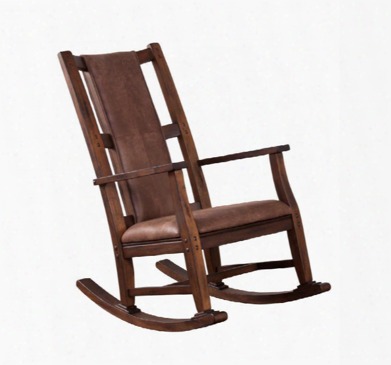 """Savannah Collection 1935ac 41"""" Rocker With Cushion Seat Stretchers And Distressing In Antique Charcoal"""