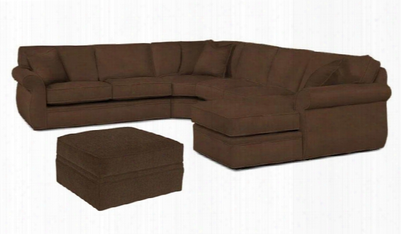 Veronica 617rchss4pco/8175-89 2-piece Living Room Set With 4pc Right Chaise Sectional And Storage Ottoman In 8175-89