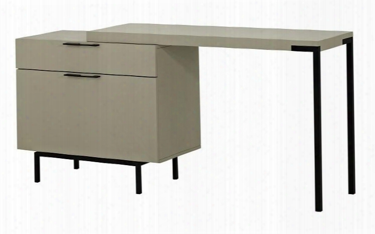 "180741 47.2""l Angel Modern Office Desk With Deep Reversible Drawer With Soft Closing Tracks And Adjustable Length In"