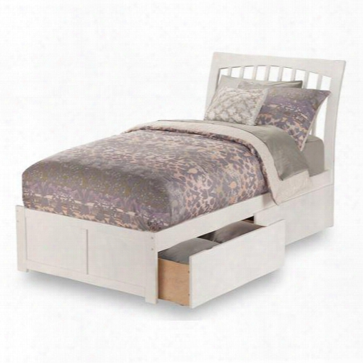 Ar9242112 Orleans Queen Flat Panel Foot Board With 2 Urban Bed Drawers In