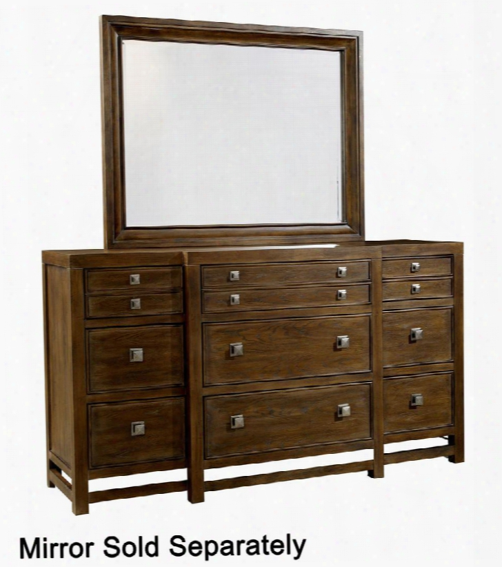 """Danville Heights 4965-230 68"""" Wide 9-drawer  Dresser With Jewelry Tray Cedar Lined Bottom Drawers And Center Drawer With Drop-down Front And Wire Access In"""