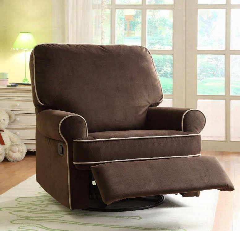 Ds-913-006-178 Birch Hill Swivel/glider Recliner Stella Coffee Doe Piping In