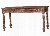 23583 Mary Tudor Console Desk with 2 Drawers Metal Hardware and Barley Twist Leg in Smackle