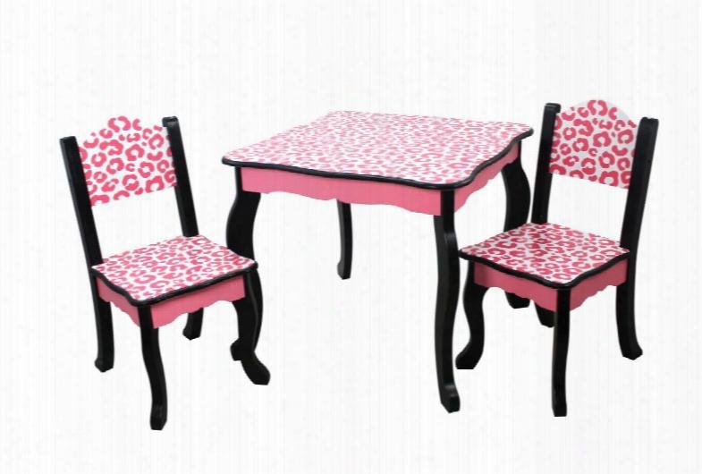 Td-11666a Teamson Kids - Leopard Table & Chair