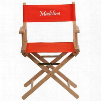 Tyd02-rd-emb-gg Embroidered Standard Height Directors Chair In