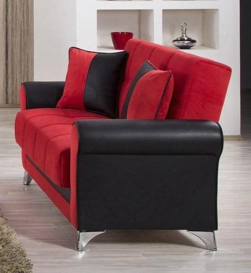"""Urban Style Collection Uslstr 63"""" Convertible Love Seat With Matching Pilows Polished Metal Feet Tufted Detailing And Piped Stitching In Black And Truva"""