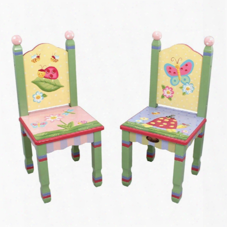 W-7484a/2 Fantasy Fields - Magic Garden Set Of 2