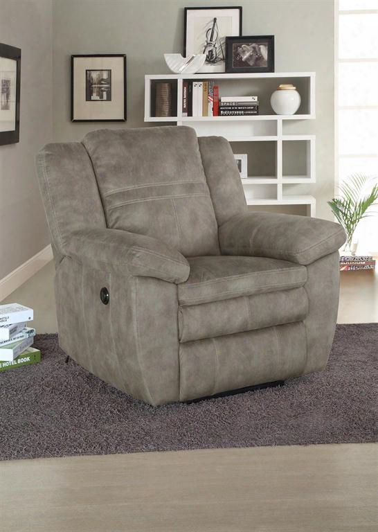 119-003-210 Bronson Power Recliner Sultry Peacn Fabric