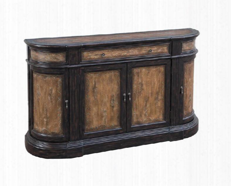 641007 Brown Credenza Distressed Wood
