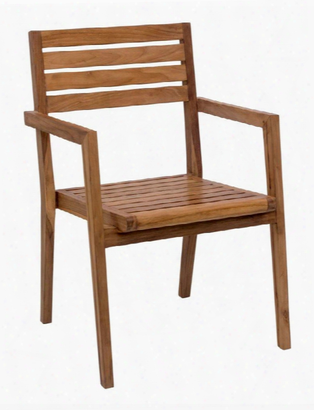 """703557 Nautical 34"""" Dining Chair With Tapered Legs And Made Fromsolid Unfinished Teak In"""