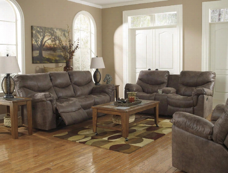 Alzena 71400pslr 3-piece Living Room Set With Power Reclining Sofa Power Double Reclining Loveseat And Power Rocker Recliner In Gun