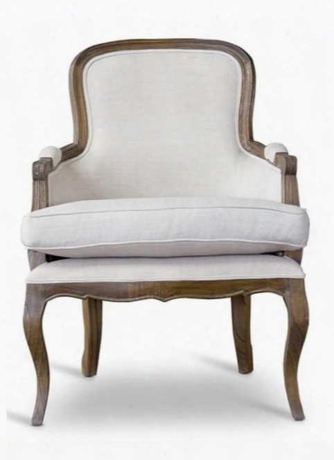 Baxton Studio Pln22miash2 Napoleon French Accent Chair With Cedar Wood Frame Polyurethane Foam Cushions Distressed Ash Wood And Fabric Upholstery In