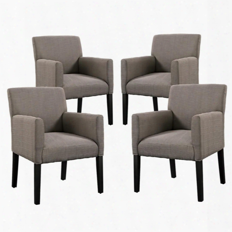Eei-1679-gry Chloe Armchair Set Of 4 In Gray