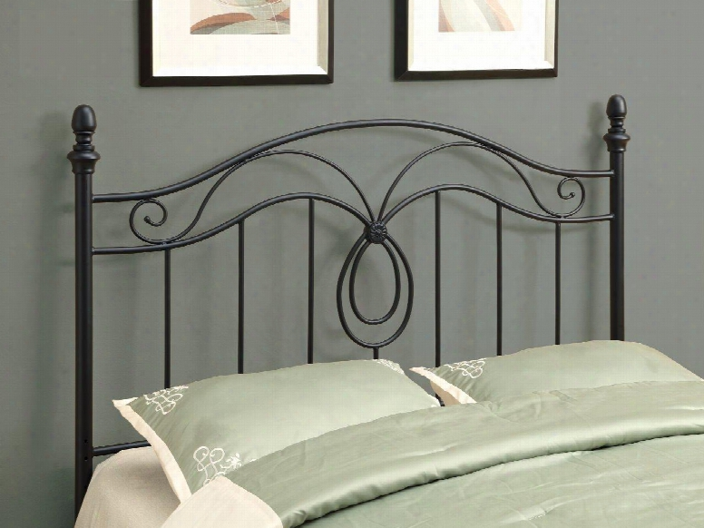 I 2622q Headboard For Queeen Or Full Size Beds In Black (can Be Used As A