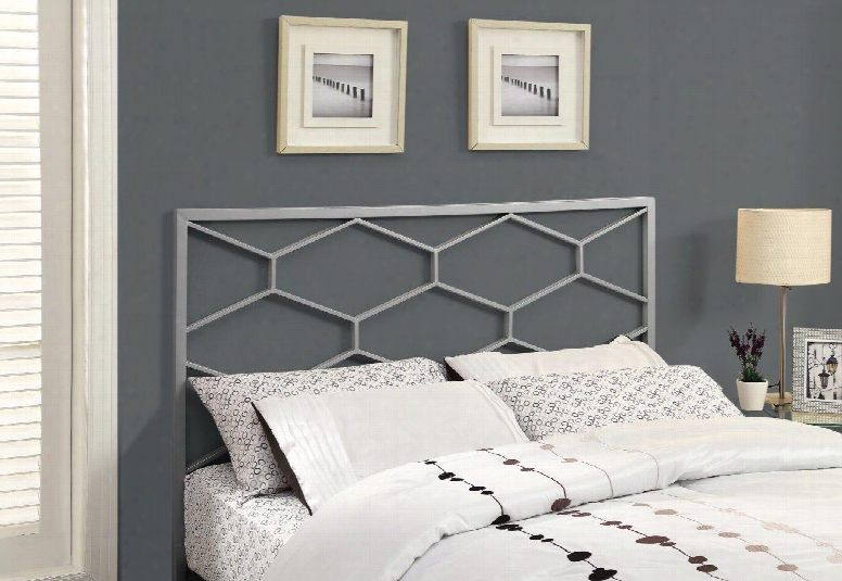 I 2626q Headboard For Queen Or Full Size Bed S In Silver (can Be Used As A