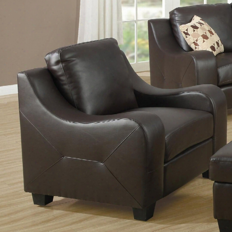 I 8411cb Chair - Chocolate Brown Bonded