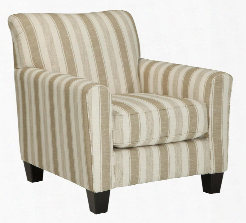 Laryn Collection 5190221 Accent Chair With Fabric Upholstery Piped Stitching Tapered Legs And Contemporary Style In