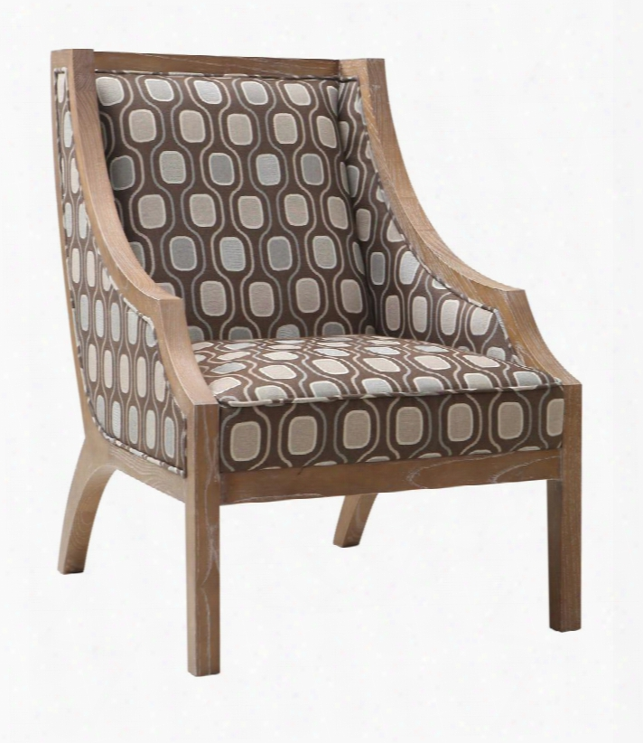 Lcsa1cr Sahara Solid Wood Accent Chair In Multi-colored