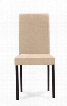 Baxton Studio Andrew Dining Chair-Beige Fabric with Foam Cushioning Wooden Legs and Fabric