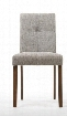 Baxton Studio Elsa Dining Chair-109/690 with Polyurethane Foam Seat Cushioning Rubber Wood Construction and Twill Fabric Upholstery in