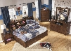Delburne Twin Bedroom Set with Storage Bed Dresser Mirror Chest and Nightstand in Medium
