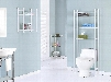 """I 3425 Bathroom Accent - 26""""H / White Metal with Tempered"""