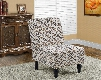 I 8126 Accent Chair - Earth Tone Fabric Traditional
