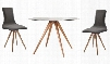 "VGMAMIT-8009-2CH Modrest Tracer 42"" Round Dining Table + 4"