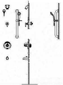 T13h963monitor 13 Series Tub And Dual Shower Trim Diverter Hand Shower And Grab