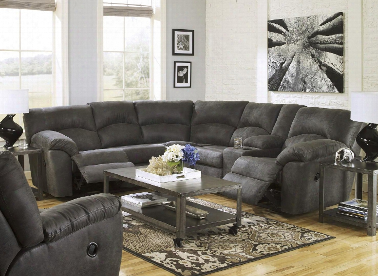 Tambo 27801ssr 2-piece Living Room Set With Sectional Sofa And Rocker Recliner In