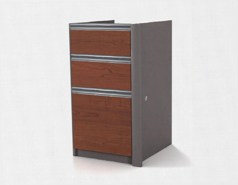 "93621-1139 Connexion 29.4"" Tall Pedestal Including Three Drawers With Drawer Lock In Bordeaux And"