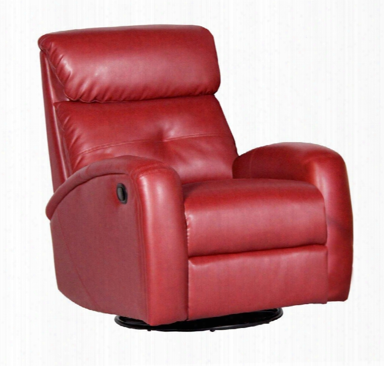 D60098mpg17 Red Reclining Glider - Bonded