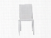 Set of Four Stacking Alder Side Chairs in White design by Euro Style