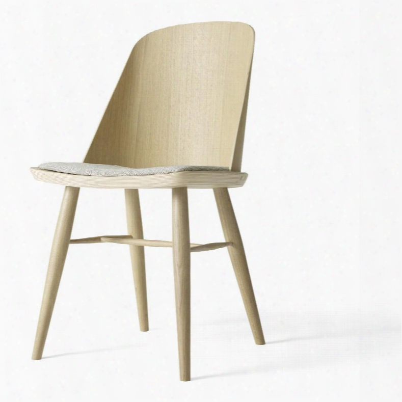 Synnes Dining Chair In Natural Oak W/ Basel 123 Fabric Upholstery Design By Menu