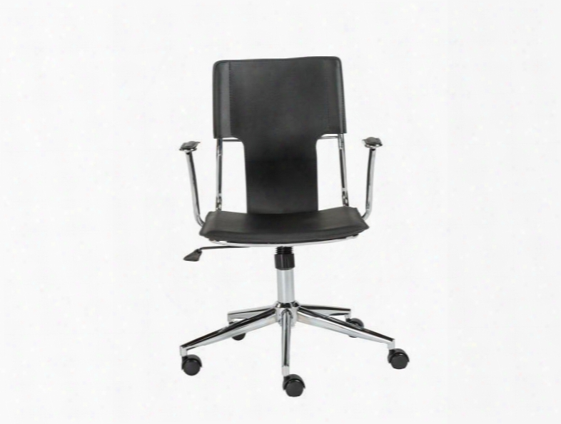 Terry Office Chair In Black Leatherette Design By Euro Style