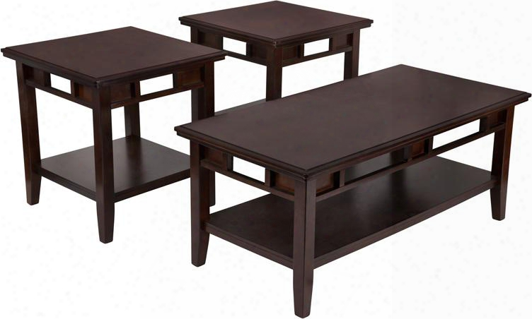 Fsd-ts3-37db-gg Signature Dsign By Ashley Logan 3 Piece Occasional Table