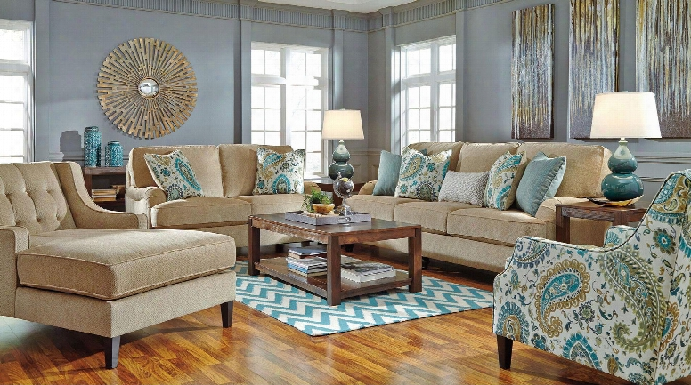 Lochian 58100set4pc 4-piece Living Room Set With Sofa Loveseat Chaise And Accent Chair In