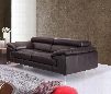 "A973 Collection 179061111-S 79"" Italian Leather Sofa with 2 Independent Ratchet Headrest Padded Arms Stitching Details in"