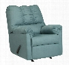 "Darcy Collection 7500625 33"" Rocker Recliner with Fabric Upholstery Plush Padded Arms Split Back Cushion and Contemporary Style in"