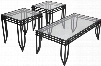 FSD-TS3-52BB-GG Signature Design by Ashley Exeter 3 Piece Occasional Table