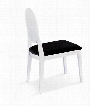 VGUNAA018-2 Dining Chair with Tapered Legs and Black Fabric Upholstery in