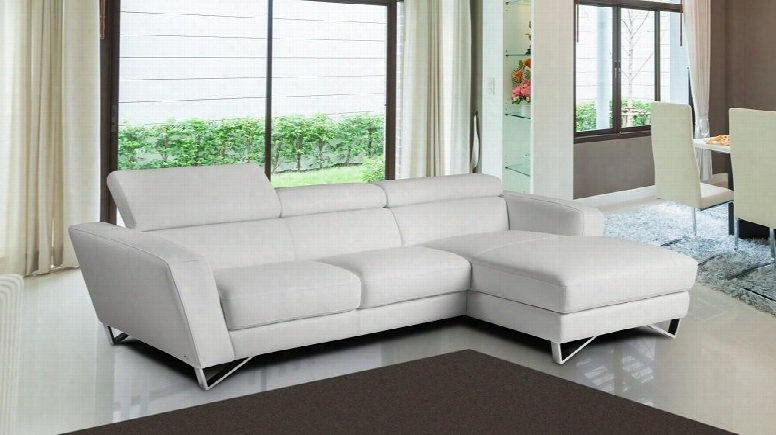"""Sparta Mini Collection 17691121-rhfc-w 102"""" 2-piece Sectional Sofa With Right Facing Chaise And Left Facing Sofa In"""
