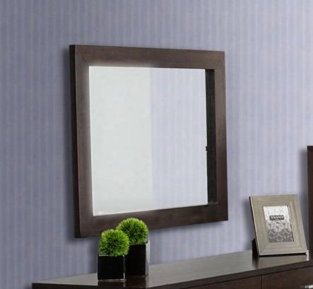 "Vgdeb1030-wge Modrest Bravo 29"" Rectangular Mirror In Wenge Glossy"