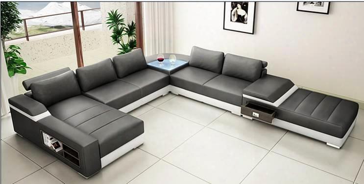 Vgyit270 Divani Casa T270 - Modern Bonded Leather Sectional