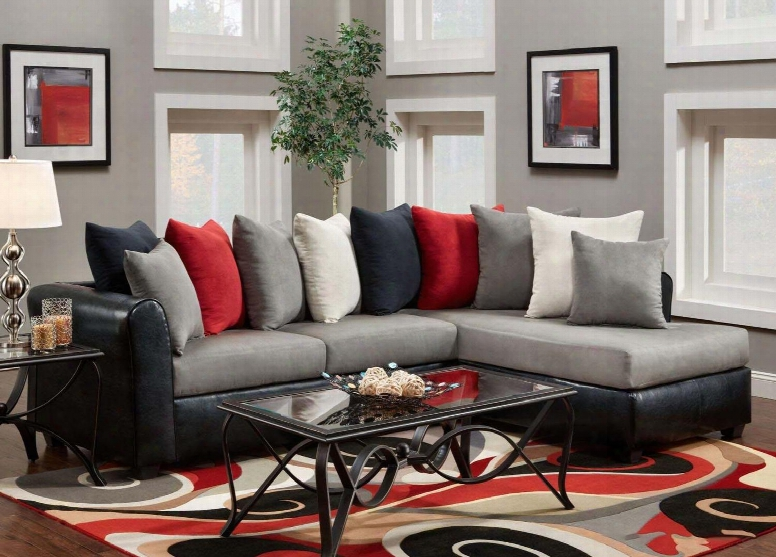 476700-sec-vb Corianne 2 Pc Sectional With Left Side Facing Sofa Right Side Facing Chaise And Toss Pillows In Conquest Lane Dolphin And Trapper