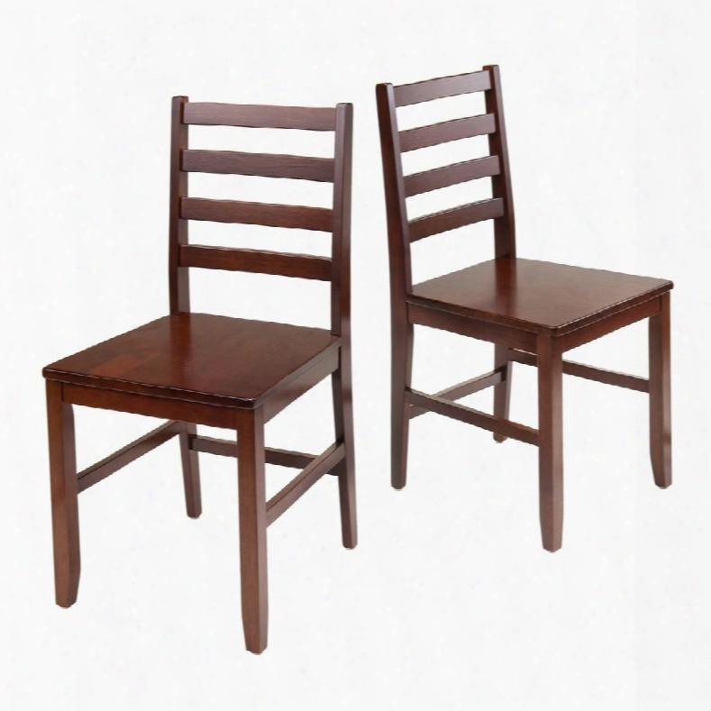94236 Hamilton 2-pc Ladder Back Chair In In Antique Walnut