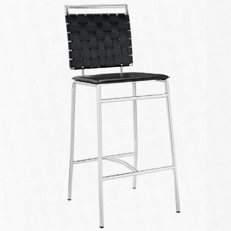 Eei-1107-blk Fuse Bar Stool In Black