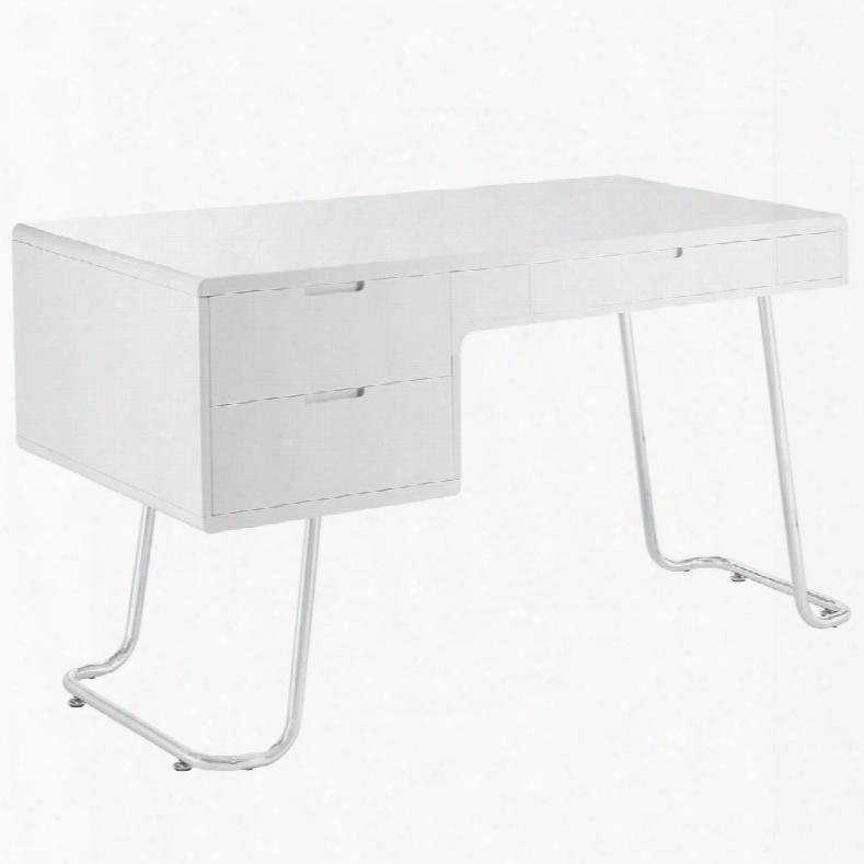 Eei-1185-whi Swing Office Desk In Whte
