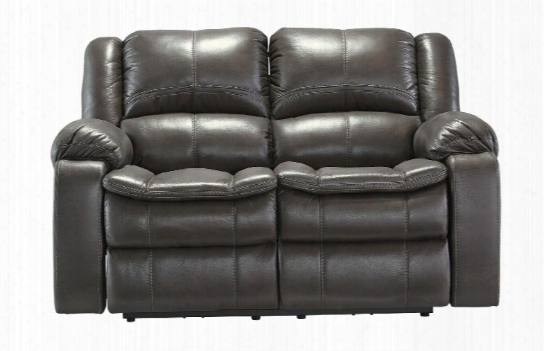 """Log Knight  8890686 65"""" Reclining Loveseat With Thick Padded Arms Contoured Pillow Top Seats And Jumbo Stitchin G Details In"""