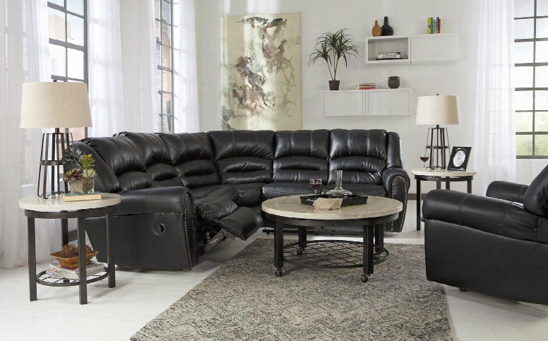 Manzanola 51203set  2-piece Living Room Set With Reclining Sectional Sofa And Rocker Recliner In